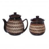 Чайный набор 2 пр. Колосок (чайник 1л, сахарница 500мл)