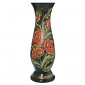 Напольная ваза Милла, малахит зелёный, роспись