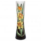 Напольная ваза Кира, чёрно-белая, роспись