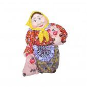 Копилка Бабка с поросятами, с декором