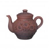 Чайник заварочный, большой, лепка (305) кр.глина, 1,7л