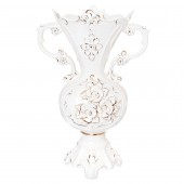 Напольная ваза Ромашка, белая, лепка