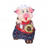 Копилка Свинка с подковой, с декором